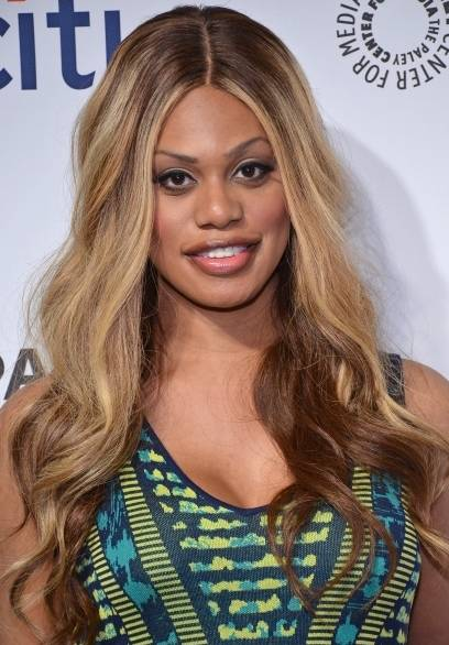 : Laverne Cox arrives at PALEYFEST 2014 honoring Orange Is The New Black at The Dolby Theatre on March 14, 2014 in Hollywood