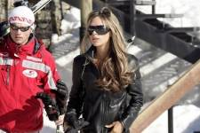David & Victoria Beckham in Courchevel