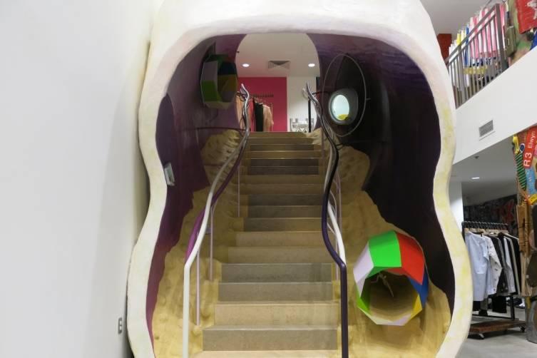 3-4 FL Arakawa and Gins Staircase 'Biotopological Scale-Juggling Escalator'