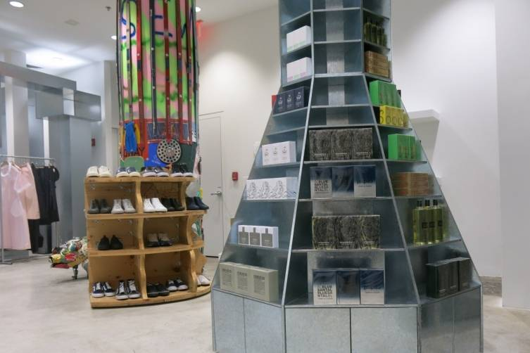 6 FL Comme des Garcons Perfume Tower, Mark Cooper shelving