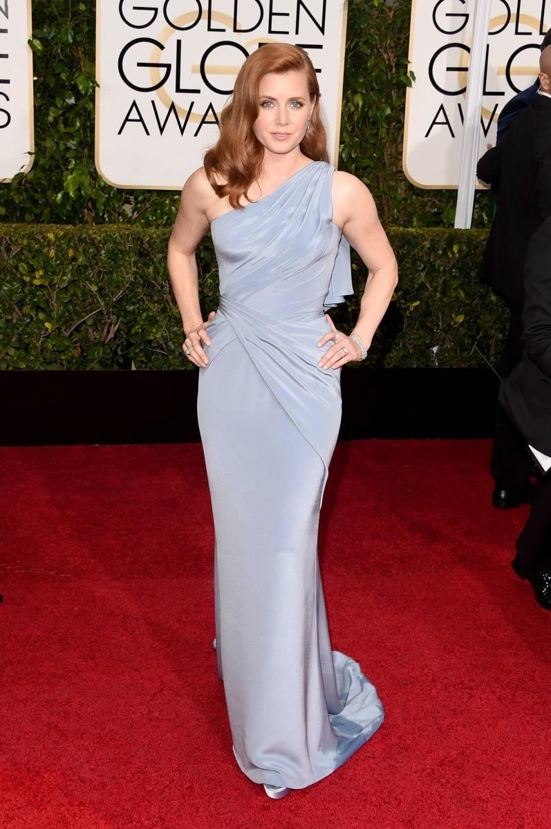 Amy Adams Golden Globes 2015 wearing Atelier Versace