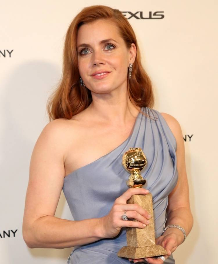 Amy Adams at TWC/Netflix post-Golden Globes party