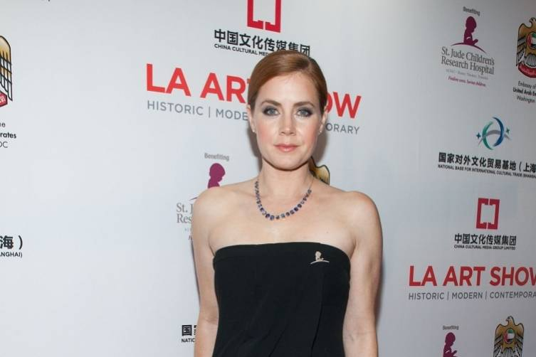 Amy Adams attends the opening night of the L.A. Art Show
