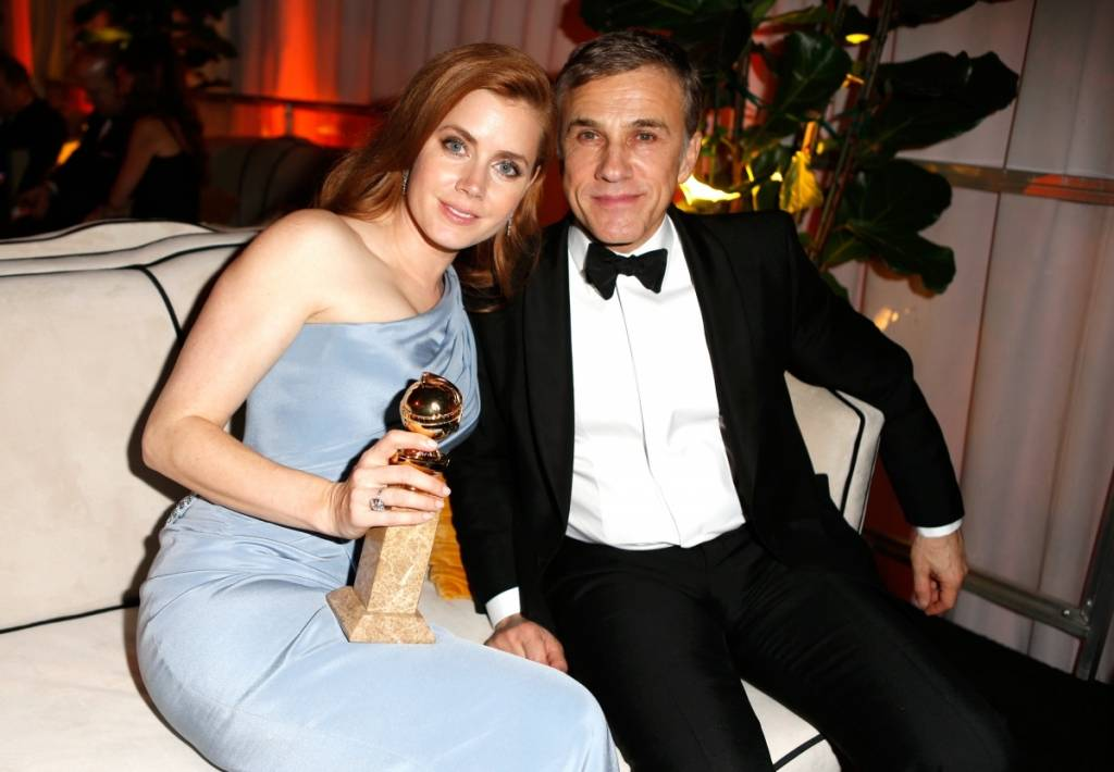 Amy Adams  & Christoph Waltz attend The Weinstein Company's Golden Globes after-party