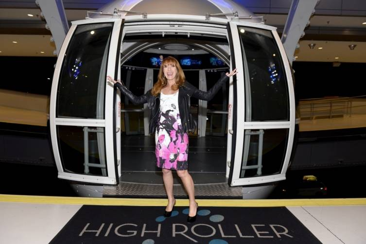Actress Jane Seymour rides the High Roller. Photos: Brian Steffy/WireImage