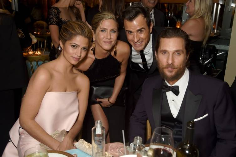 Camilla Alves, Jennifer ANiston, Justin Theroux and Matthew McConaughey