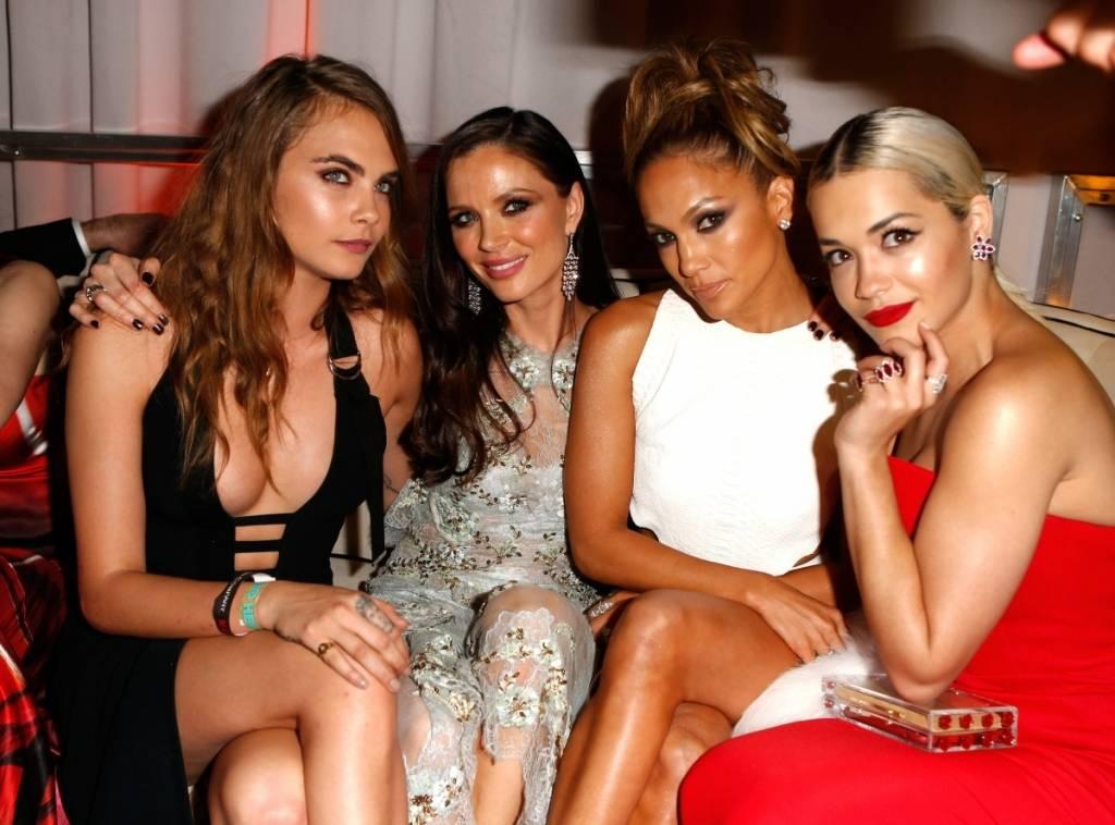 Cara Delevingne, Georgia Chapman, Jennifer Lopez and Rita Ora