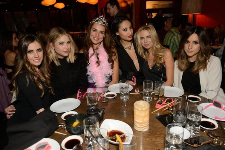 Francia Raisa and Ashley Benson celebrate the bachelorette party of a friend at Tao Las Vegas. Photos: Al Powers