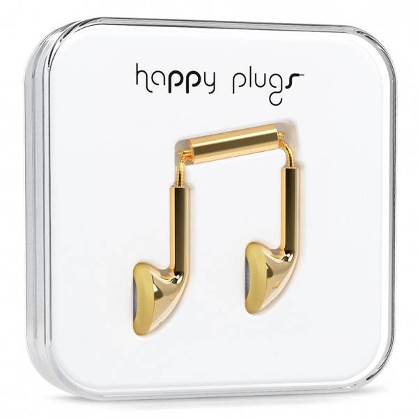Happy Plugs 18 carat gold headphones
