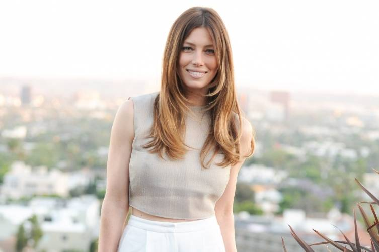 Jessica Biel celebrating the Tiffany & Co. Atlas Collection