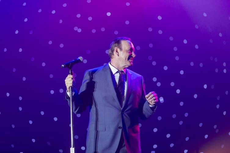 Kevin Spacey performs at Champions Gala