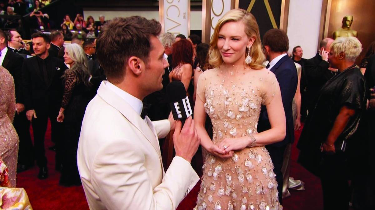 Ryan Seacrest interviewing Cate Blanchett
