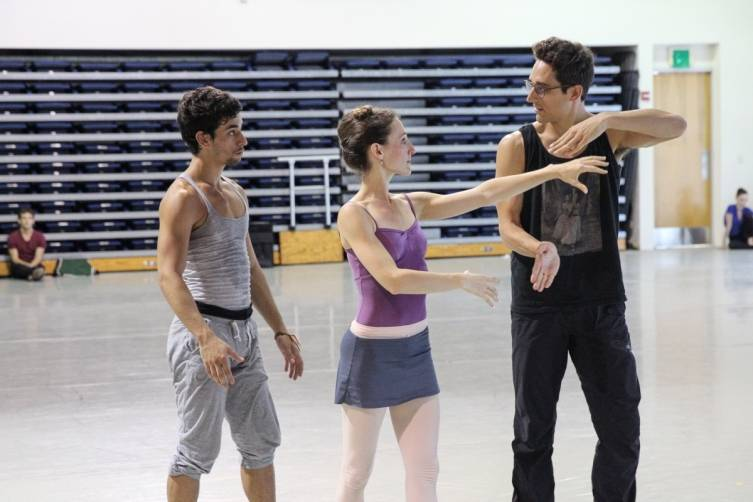 Justin Peck working with MCB dancers
