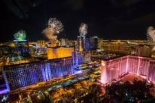 New Year's Eve fireworks on the Las Vegas Strip as seen from the High Roller. CREDIT: ERIK KABIK / KABIK PHOTO GROUP