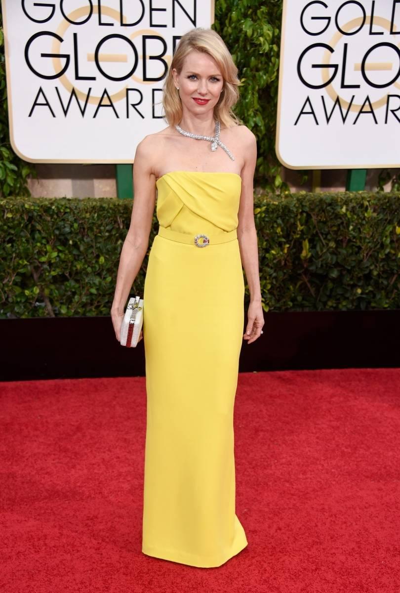Naomi Watts Golden Globes 2015 wearing Gucci