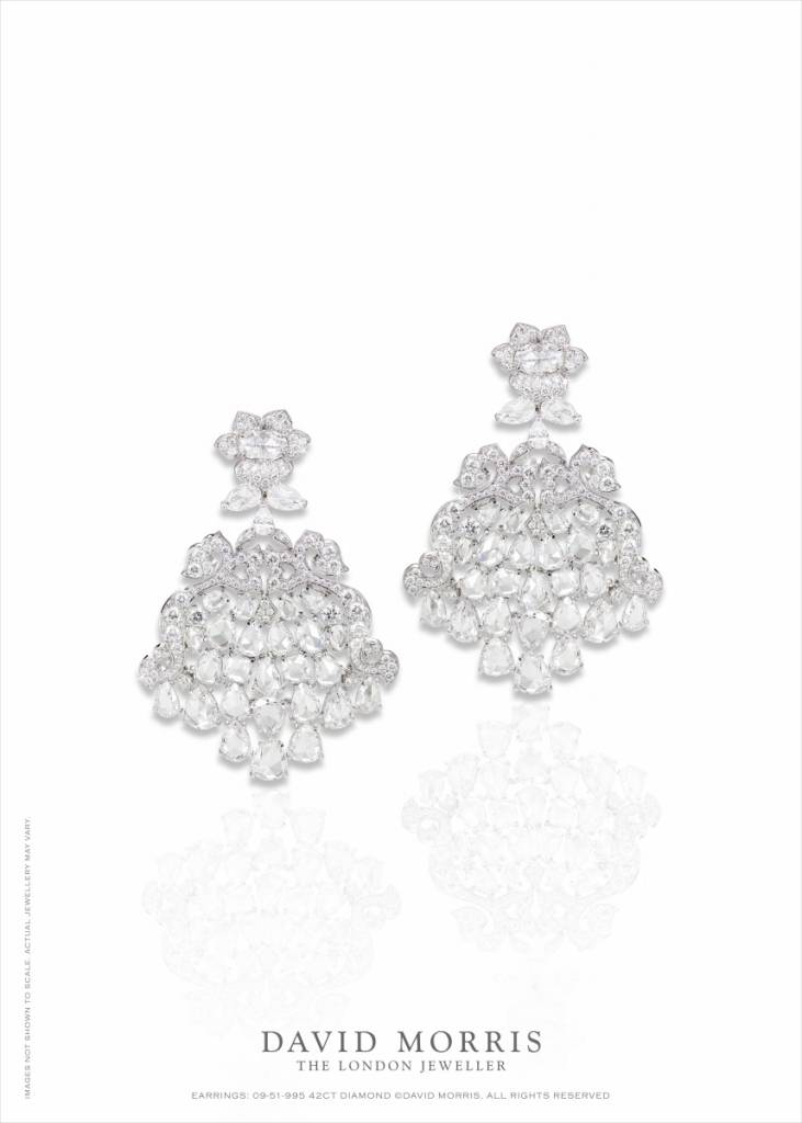 'Pagoda' rose-cut diamond earrings