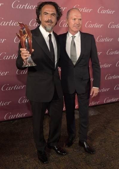 Alejandro Gonzalez Inarritu and Michael Keaton