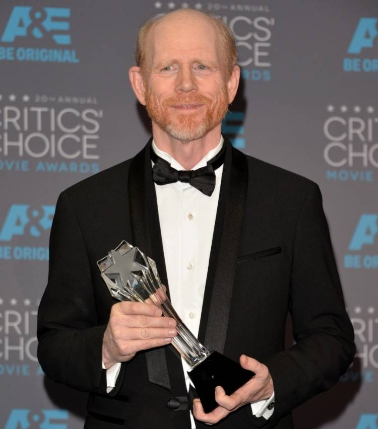 Ron Howard accepting his Louis XIII at the 20th Annual Critics' Choice Movie Awards