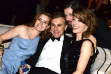Amy Adams, Christoph Waltz, Darren Le Gallo and Judith Holste. Image via Getty.