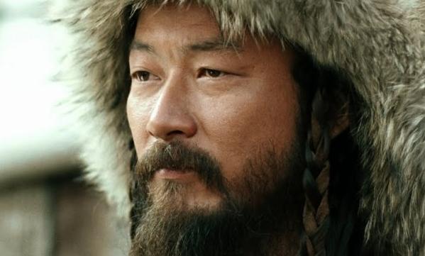 "Tadanobu Asano as Genghis Khan in ""Mongol"""