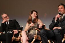 David Fincher, Gillian Flynn, Ben Affleck. Image via filmstage.