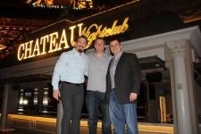 Tim Kennedy with Dakota Meyer and a friend at Chateau Nightclub.