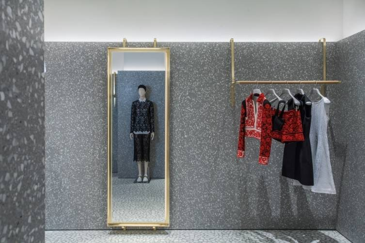 Brass Rack and mirror Valentino store