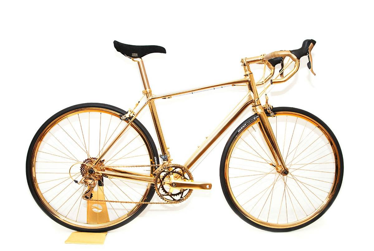 Goldgenie's 24K Gold Bicycle Makes it Haute To Go Green