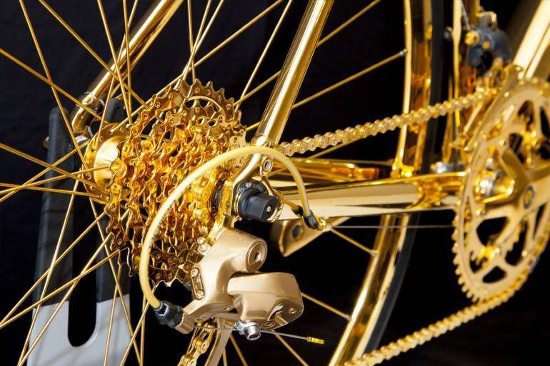 Goldgenie gold-plated bicycle