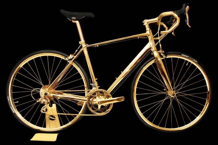 Goldgenie gold racing bike